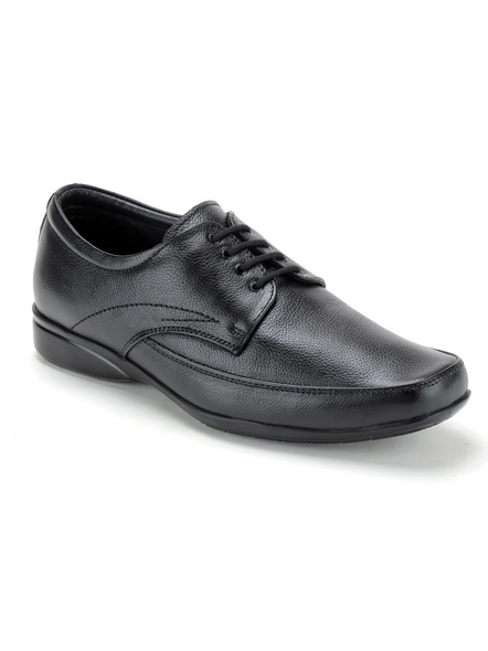 Pine Leather Derby Formal SHOES24-11-Black-1
