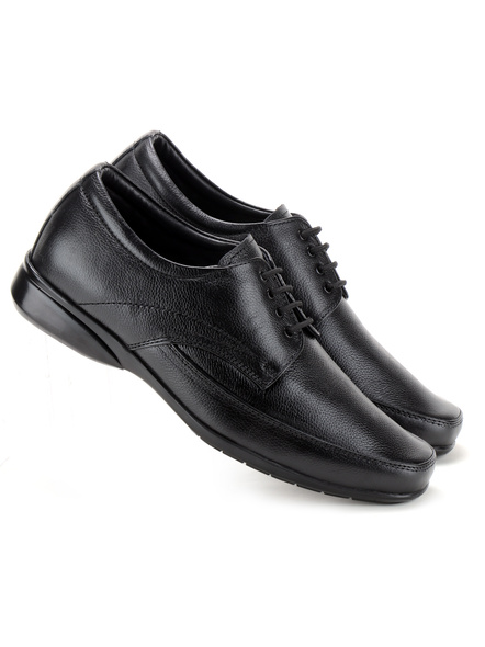 Pine Leather Derby Formal SHOES24-8-Black-4