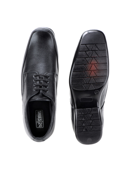 Pine Leather Derby Formal SHOES24-9-Black-5