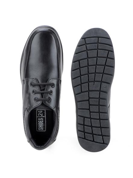 Black Leather Derby Formal SHOES24-10-Black-1