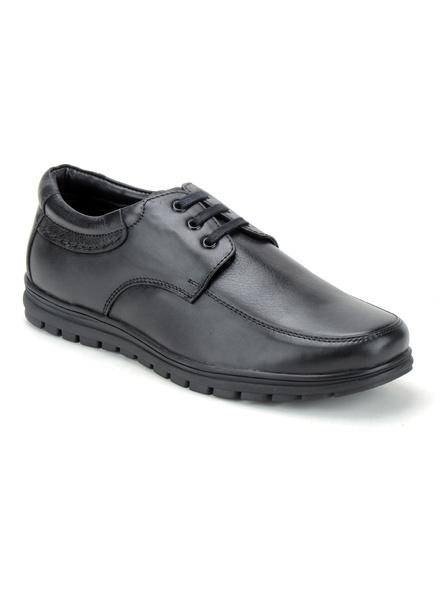 Black Leather Derby Formal SHOES24-10-Black-2