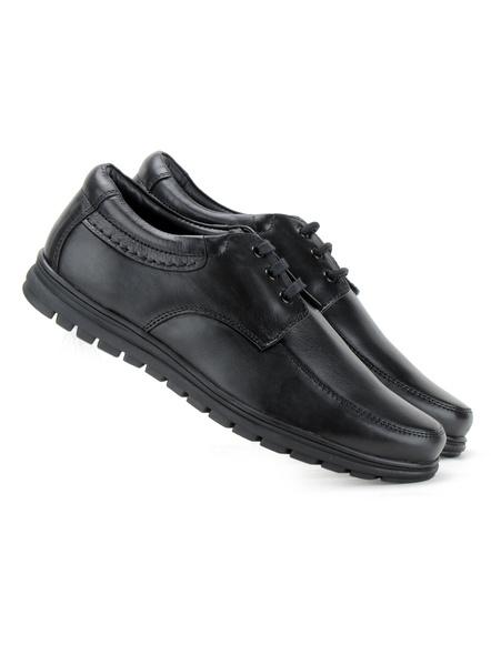 Black Leather Derby Formal SHOES24-10-Black-5