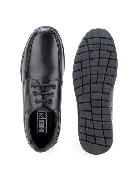 Black Leather Derby Formal SHOES24-7-Black-1