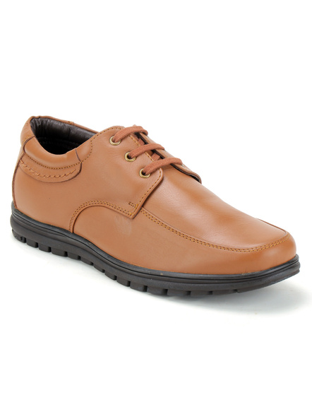 Black Leather Derby Formal SHOES24-10-Tan-4