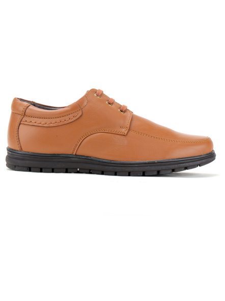 Black Leather Derby Formal SHOES24-10-Tan-5