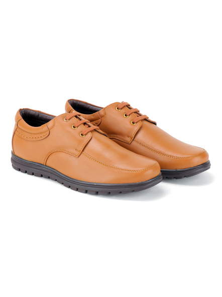 Black Leather Derby Formal SHOES24-10-Tan-8