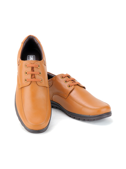 Black Leather Derby Formal SHOES24-Tan-6-9