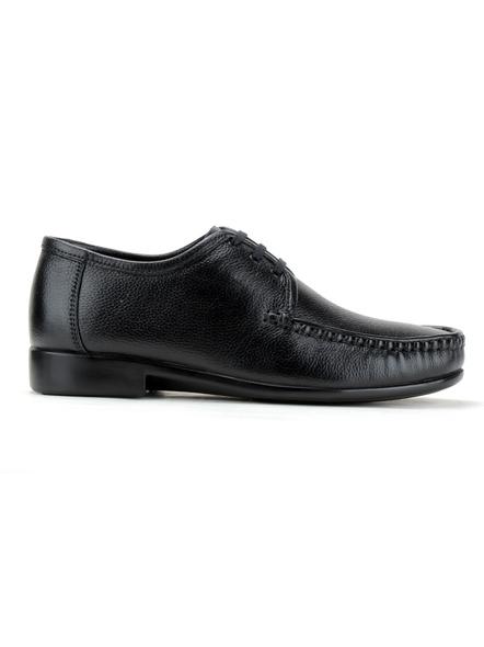Black Leather Derby Formal SHOES24-Black-10-3