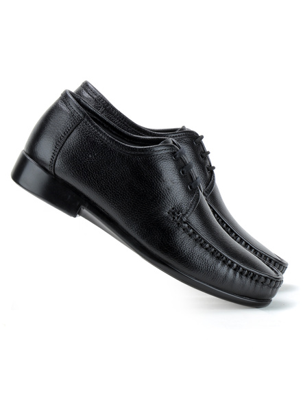 Black Leather Derby Formal SHOES24-Black-10-5