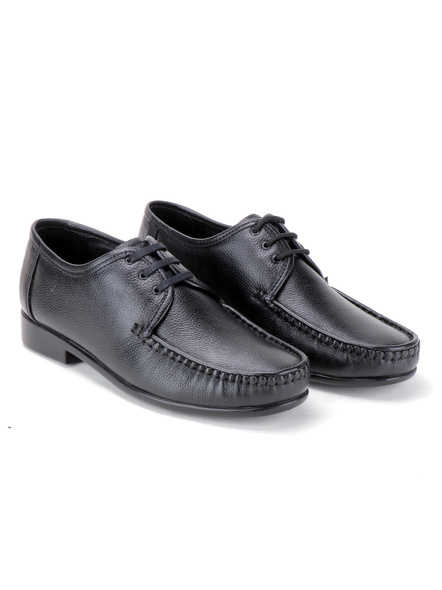 Black Leather Derby Formal SHOES24-Black-10-6