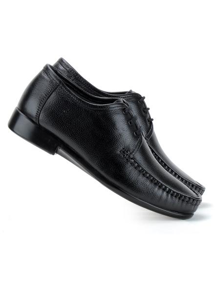 Black Leather Derby Formal SHOES24-Black-7-5