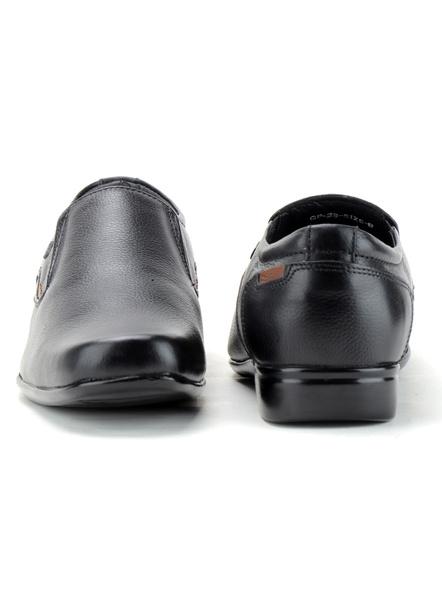 Black Leather Moccasion Formal SHOES24-Black-10-2
