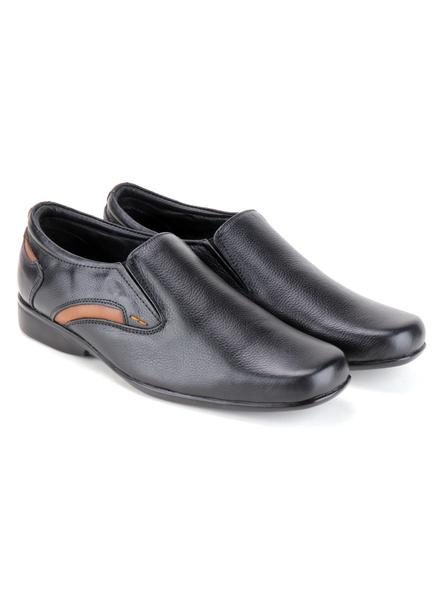 Black Leather Moccasion Formal SHOES24-Black-10-6
