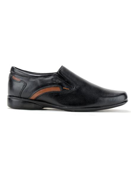 Black Leather Moccasion Formal SHOES24-Black-12-1