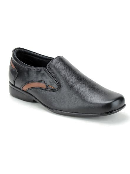 Black Leather Moccasion Formal SHOES24-Black-12-5