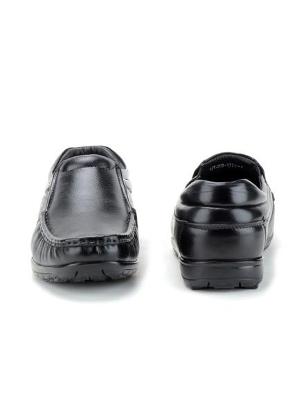 Black Leather Moccasion Formal SHOES24-Black-6-3