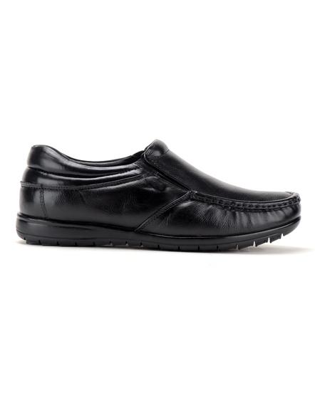 Black Leather Moccasion Formal SHOES24-Black-7-2