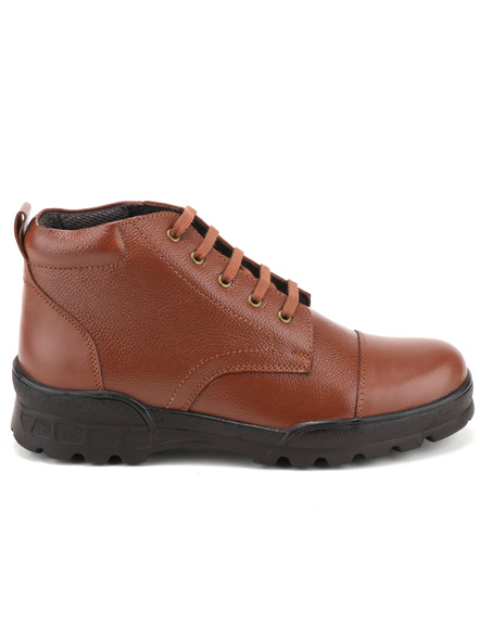 Tan Leather Police Boot SHOES24-Tan-6-1