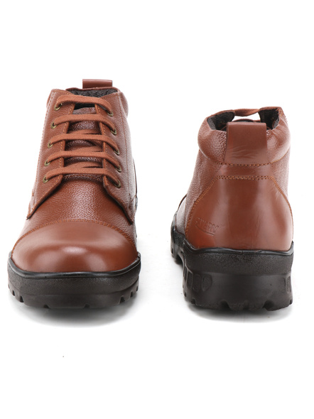 Tan Leather Police Boot SHOES24-Tan-8-1