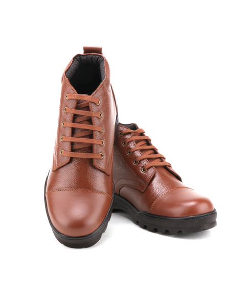 Tan Leather Police Boot SHOES24-Tan-9-2