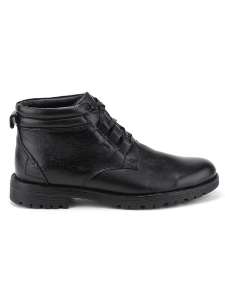 Black Leather Boot SHOES24-LC-71_BLK_7