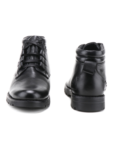 Black Leather Boot SHOES24-Black-8-1