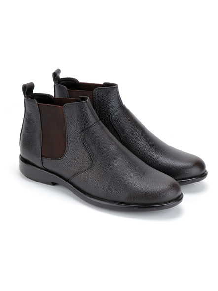 Black Leather Boot SHOES24-Black-11-1