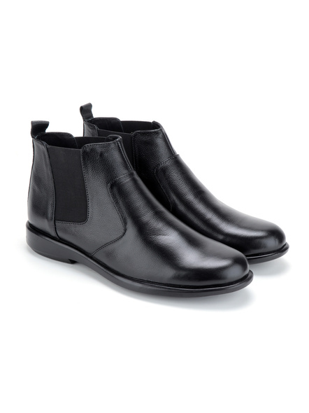 Black Leather Boot SHOES24-Black-11-6