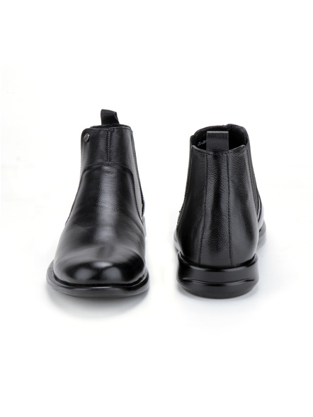 Black Leather Boot SHOES24-Black-11-7