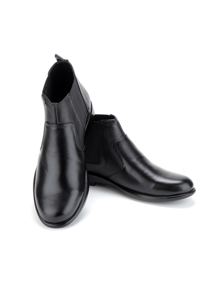Black Leather Boot SHOES24-Black-11-8