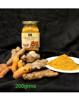 200g Ginger Brew w/ Turmeric Bottle
