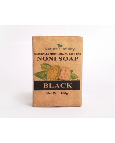 Savon de Boracay Noni Black Soap Bar 100 Grams-NoniBlackSoap100g