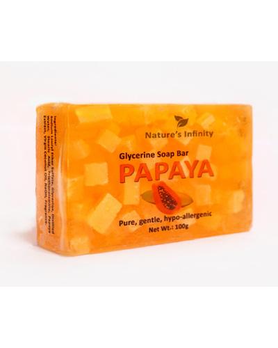 Papaya Glycerine Soap Bar 100 Grams-PapayaGlycerineSoapBar100g