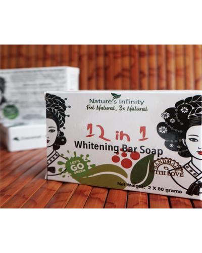 12 In 1 Whitening Soap Bar 2 x 80 Grams-12In1WhiteningSoapBar2x80g