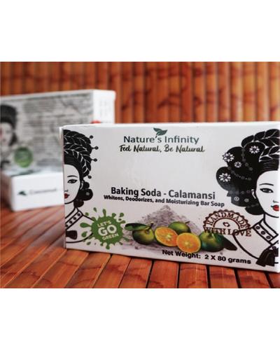 Baking Soda-Calamansi Soap  Bar 3 x 80 Grams-BakingSoda-CalamansiBar3x80g