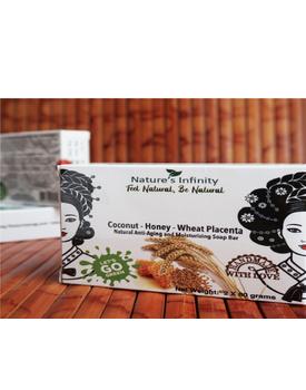 Coconut - Honey - Wheat Placenta Soap Bar 2 x 80 Grams