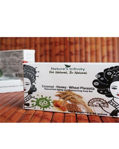 Coconut-Honey-Wheat Placenta Soap Bar 3 x 80 Grams-Coconut-Honey-WheatPlacenta3x80g