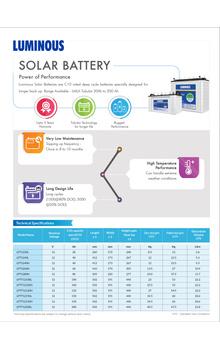 Solar Battery 20 Ah – LPT1220L
