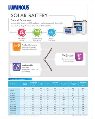Solar Battery 150 Ah – LPTT12150H-1