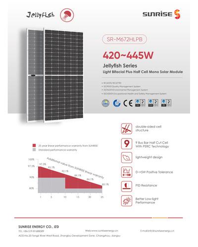 445 Wp Bifacial Solar PV Module-1