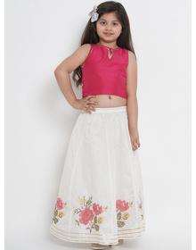 Bitiya by Bhama Fuchsia Ready to Wear Lehenga with Blouse