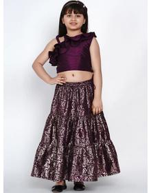 Bitiya by Bhama Purple Ready to Wear Lehenga with Blouse