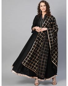 Bhama Couture Black Solid Lehanga Choli With Dupatta