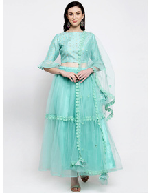 Bhama Couture Green Ready to Wear Lehenga & Blouse with Dupatta