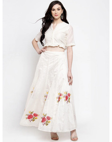 Bhama Couture White Ready to Wear Lehenga with Blouse