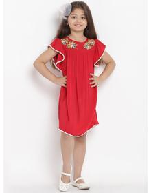 Bitiya by Bhama Girls Red A-Line Dress