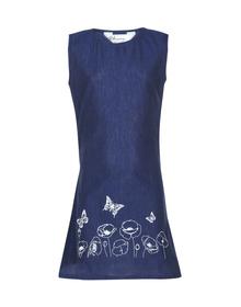 Bitiya by Bhama Girls Navy Blue Printed A-Line Dress
