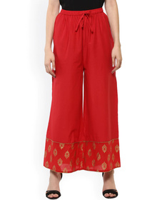 Bhama Couture Women Off-White Flared Palazzos