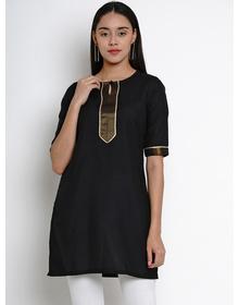 Bhama Couture Women Black Solid Kurti