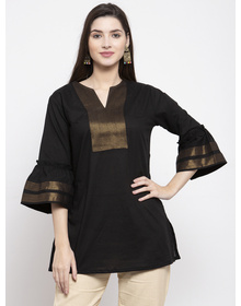 Bhama Couture Women Black Solid Tunic